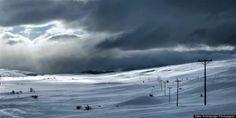 Snowy fjell landscape near Vågåmo.