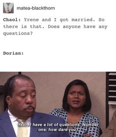 1. Dorian missed Chaols wedding 2. Dorian was not the groom at Chaols wedding