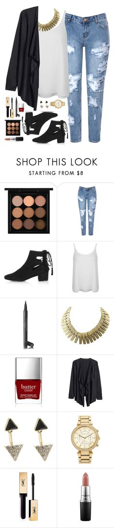 """Lunch"" by anda-cazacu ❤ liked on Polyvore featuring MAC Cosmetics, Glamorous, Topshop, Miss Selfridge, Chanel, Butter London, H&M, Oasis, MICHAEL Michael Kors and Yves Saint Laurent"