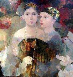 By French artist Françoise de Felice | Le joyau | Huile sur toile 60 x 60