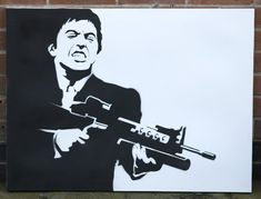 I think it is the first stencil i ever made.