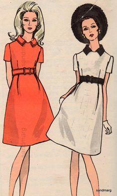 1960s Vogue empire Mod dresses