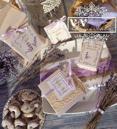 Botanical Design VII. - Levendulás esküvői meghívó és kiegészítők - V&V Dream Flowers esküvői meghívók, menü- és ültetőkártyák, köszönetajándékok