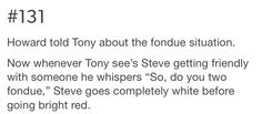 Lol. Leave it to Tony, right?