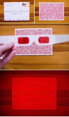 The 3-D Secret Decoder Message | 36 Cute And Clever Ways To Save The Date