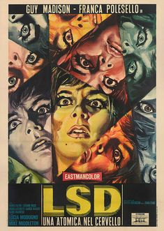 'LSD una Atomica nel Cervello' Italian Movie Poster 1967 by Atomic #designwithorbital