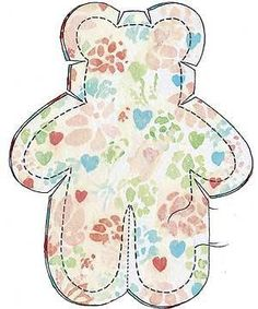 Teddy bear pattern sewing diagram