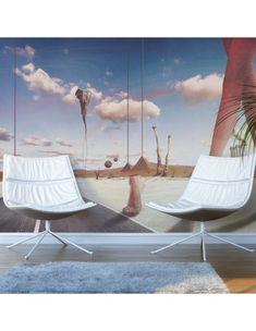 Fototapeta - Fantasmagoria Thermal Insulation, Prezzo, Barcelona Chair, Outdoor Furniture, Outdoor Decor, Sun Lounger, Wall Murals, Vibrant Colors, Modern