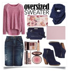 """""""Oversized Sweater."""" by chanlee-luv ❤ liked on Polyvore featuring Current/Elliott, Sole Society, Liz Claiborne, Charlotte Tilbury, Toast and Billabong"""