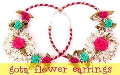 gota flower earrings