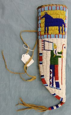 Sioux Beaded Pictorial Knife Sheath