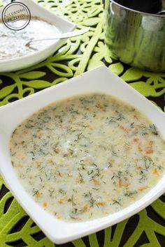 Pyszna zupa koperkowa z ryżem. Delikatna i aromatyczna. Polecam :)