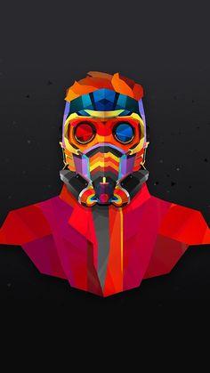 Star Lord Neon wallpaper