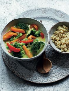 Switch up rice for quinoa for a new twist on curry. This supper is perfect for when you're feeling a bit run down, packed with veg and warming ginger.