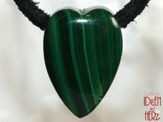 Valentines Day, Hearts, Gemstones, Malachite, Leather Cord, Neck Chain, Cotton, Valentines Diy