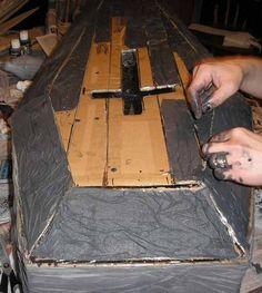 Cardboard coffin tutorial