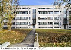 Apartment Complex, Weissenhof Housing Development. 1926-1927. Dessau, Germany. Ludwig Mies van der Rohe.