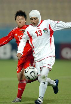 The women in the Jordanian national football team, for their work on getting the FIFA (international football organisation) to lift the ban on the hijab