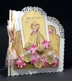 Card Gallery - GoldPink Check Just for You Scallop Fashion Tag CF Mini Kit