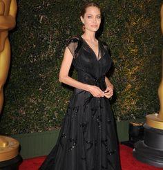 Angelina Jolie en robe de soirée Atelier Versace