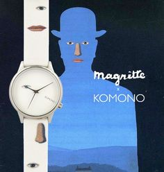 This #watch features #Magritte's #TheKingsMuseum - a work of #art you can take everywhere you go, by @Komono. #unique #surrealism #weareveryday #sportique #komono #sportiquesf