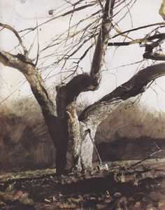 The Ax; Andrew Wyeth (watercolor)