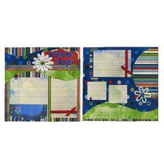 School Days Double Layout Two Premade by SusansScrapbookShack, $26.95