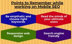 The mobile SEO has revolutionized the SEO industry and there are unique and most equipped elements and strategies to be adopted for getting your mobile website ranked higher in top search engines.
