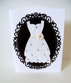 Bridal Dress Card by SuperCraftyLady on Etsy, $5.00