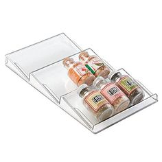 mDesign Spice Rack Drawer Organizer for Kitchen Storage  Clear ** Find out more about the great product at the image link.