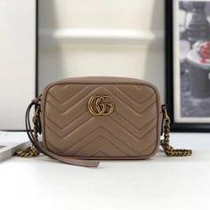 Gucci GG Marmont matelassé mini bag dusty pink 448065