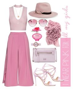 """#iwearpinkfor"" by piaferrerlubo on Polyvore featuring Casadei, Roksanda, Eugenia Kim, Minnie Rose, Ted Baker, Marc Jacobs, Michael Kors, FOSSIL and IWearPinkFor"