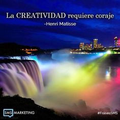 La creatividad requiere coraje. - Henri Matisse #FrasesSMS