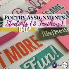 Meaningful and engaging poetry activities for secondary ELA; blog post from Teachwriting.org #poetrylessons #middleschoolela