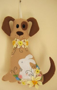 cane in pannolenci, felt dog