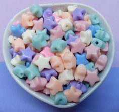 50x 12mm Star Beads in Pastel Multicolours by CuteCornwall on Etsy #twinstar