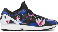 save off fe816 517aa adidas Originals Black Blue Yellow B34467 ZX Flux NPS