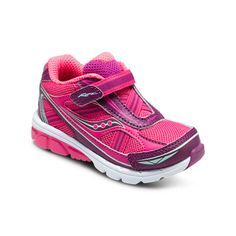 Saucony Baby Ride 8 Athletic Velcro in Pink/Purple. #saucony #babyride8 #athletic #girlsathleticshoes #girls #baby #toddler #velcron #pink #purple #alltimefavorite #Fall #backtoschool #getthembeforetheyaregone