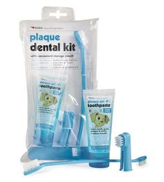 Petkin Oral Plaque Dental Kit for Dogs Puppies Cats Kittens with storage bag #SharplesGrant
