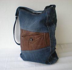 "Jeanstasche Upcycling ""Borsa"" von Gasani auf DaWanda.com"