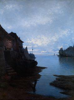 Emilio Ocón y Rivas - Seascape (1884)