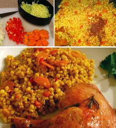 Cous Cous with Vegetables - also Thai style veg recipe here