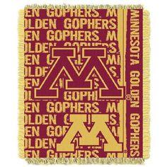 Minnesota Golden Gophers Bed Throw Blanket Bedding 48 x 60