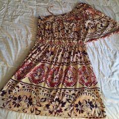 One Shoulder summer Dress Cinched at waist. One Shoulder summer Dress Cinched at waist. Dresses One Shoulder