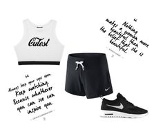 """cute"" by ayahbouguerra on Polyvore featuring moda e NIKE"