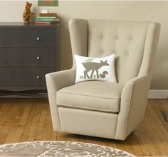 The Myles Glider is a gorgeous and practical registry item. Add it to your #weddingregistry or babyregistry to bring this stylish, comfortable piece of furniture home. #giftregistry #universalregistry