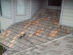 Cedar Roof Repairs in Progress.