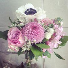 친구한테 선물받은 꽃다발~