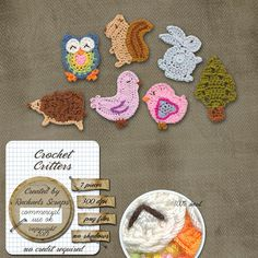 Crochet Critters OMGosh look at the owl too cute!