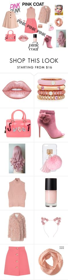 """""""PINK PINK AND MORE PINK!"""" by sara-richmor ❤ liked on Polyvore featuring Lime Crime, Adolfo Courrier, Furla, Ashlyn'd, Diesel Black Gold, A.L.C., Miu Miu, Aéropostale and Roksanda"""